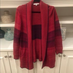 {CAbi} Open Front Thick Knit Cardigan